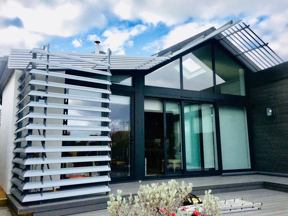 Vertically Mounted Ladder Screening - in addition to horizontal Brise Soleil